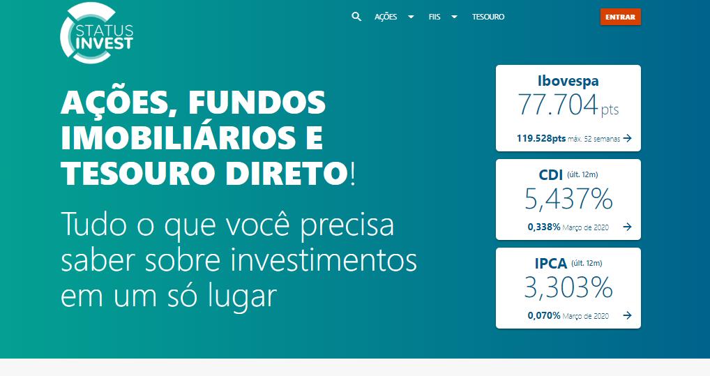 status-invest-página-inicial