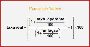 Taxa de juros nominal e real