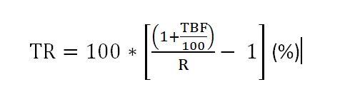 formula Taxa referencial