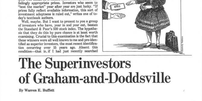 Os superinvestidores de graham-and-doddsville