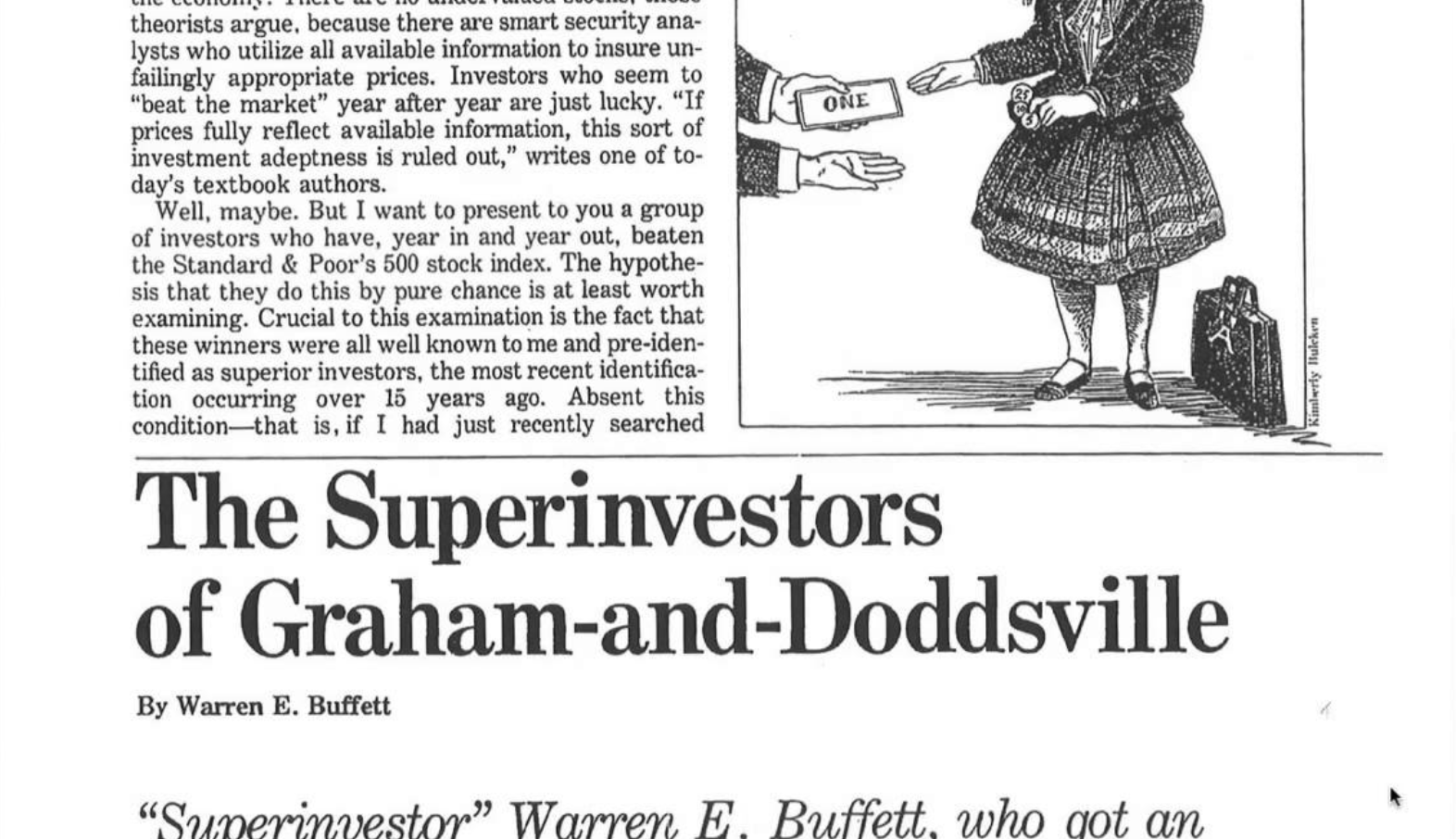 Os superinvestidores de graham-and-doddsville