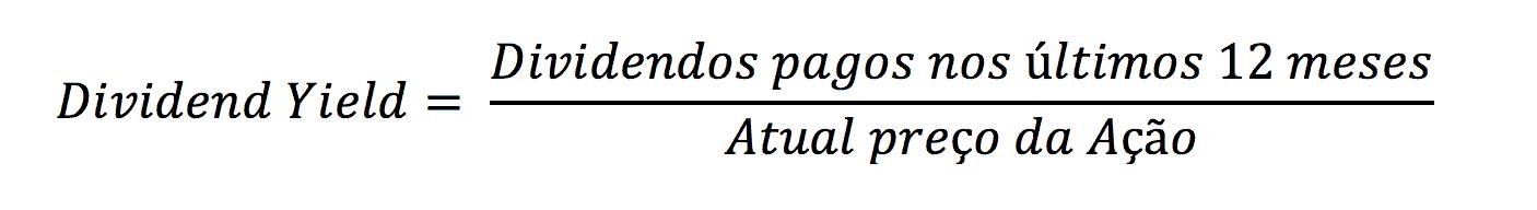 fórmula de cálculo do dividend yield