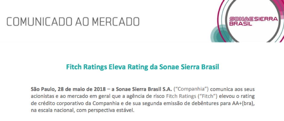 rating de investimento