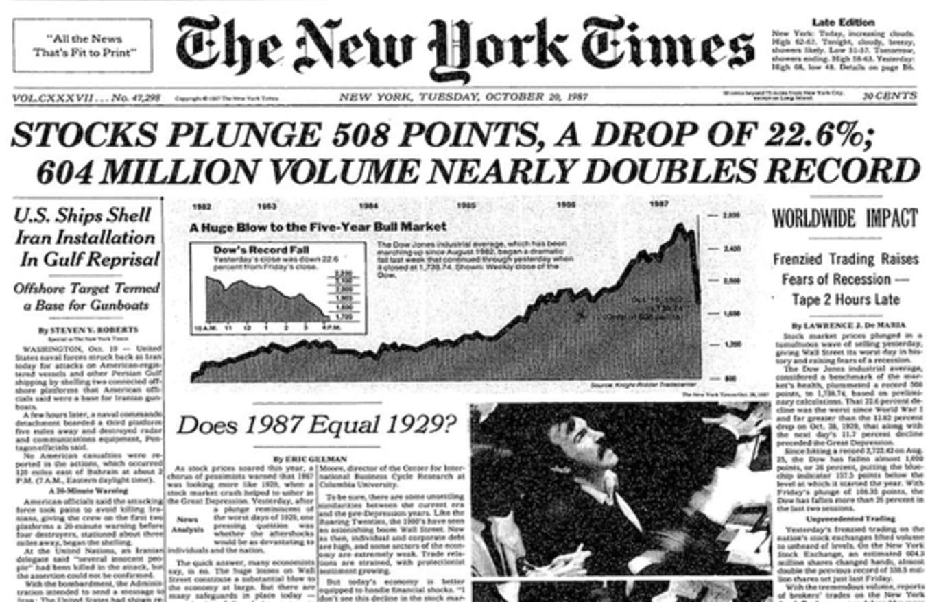 A Segunda-Feira negra de 1987