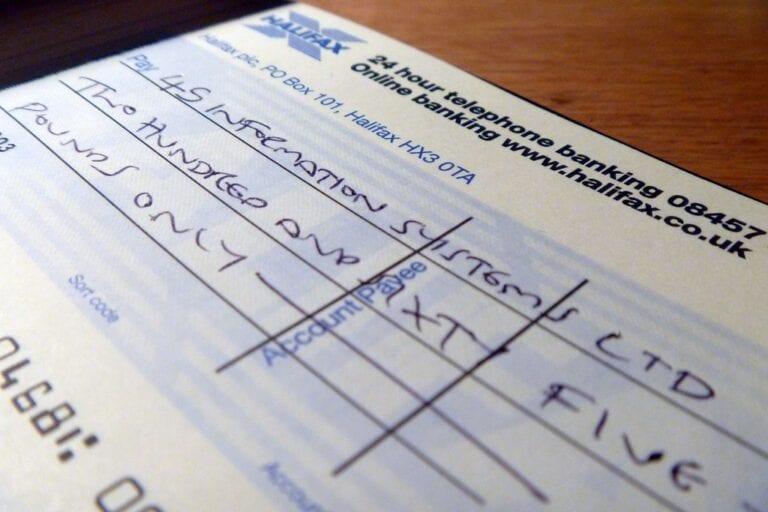 cheque sustado